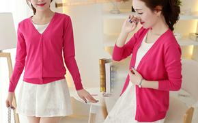 韩版薄款针织开衫,时尚百搭轻薄透气、不退色抗起球,秋季必备单品!